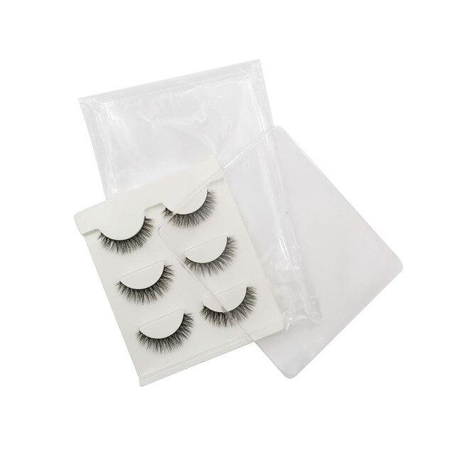 LANJINGLIN 10 boxes natural long false eyelashes wholesale make up 3d mink lashes full strip lash eye makeup tool faux cils 6