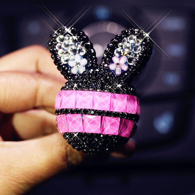 2pcs Car Air Freshener New Fashion Diamond Bunny Air Conditioner Outlet Fragrance Perfume Clip Lovely Ornaments Auto Accessories in Air Freshener from Automobiles Motorcycles