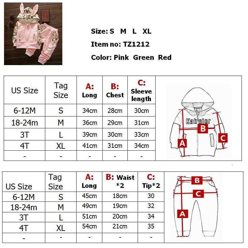 Lindo conjunto de ropa de bebé niña para niños de alta calidad 2018 Otoño de manga larga estampado Niño niñas traje de bebé para chico 1 2 3 4 años