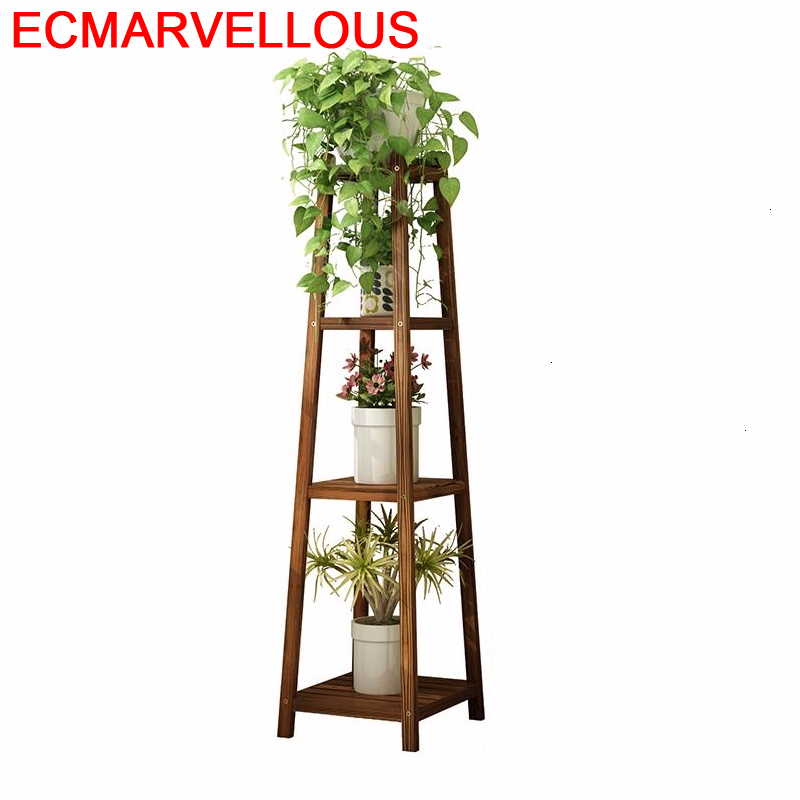Suporte Flores Indoor Garden Shelves For Huerto Urbano Madera Plantenrekken Balcony Rack Shelf Outdoor Flower Plant Stand