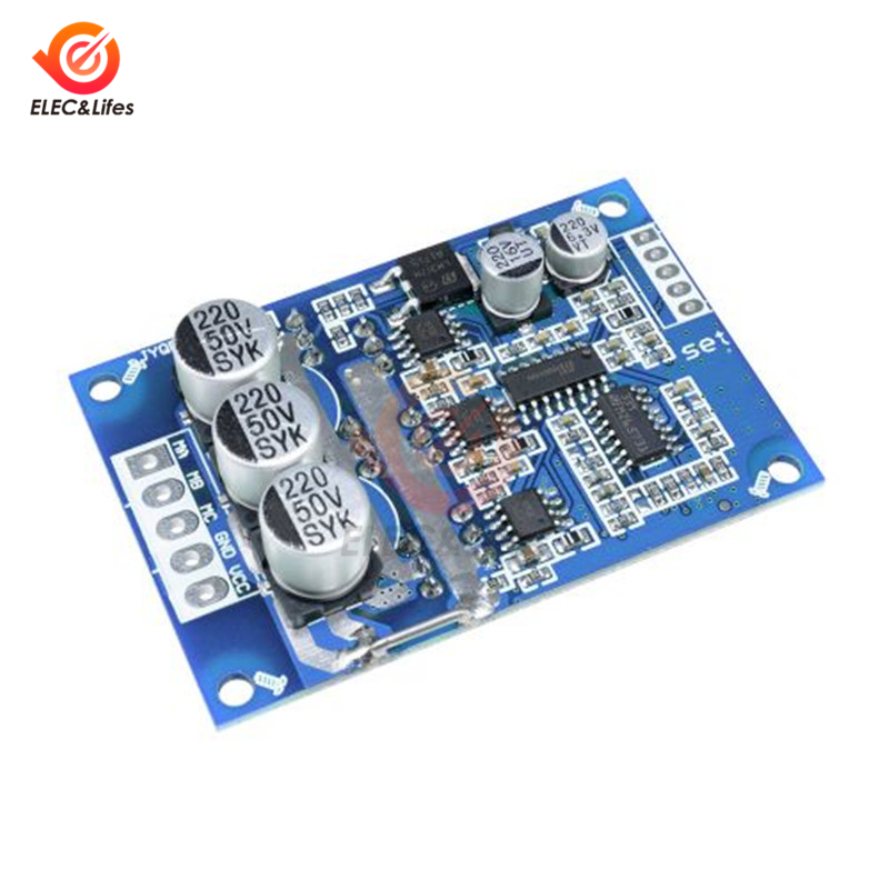 DC 12V-36V 500W PWM DC Brushless Motor Controller No Hall Motor Balancing Automotive Balanced BLDC Car Driver Control Board