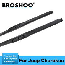 BROSHOO Car Clean The Windshield Wiper Blade Natural Rubber For Jeep Cherokee Fit Hook Arms 2001 To 2018 Accessories Styling broshoo car windshield wiper blade natural rubber 24