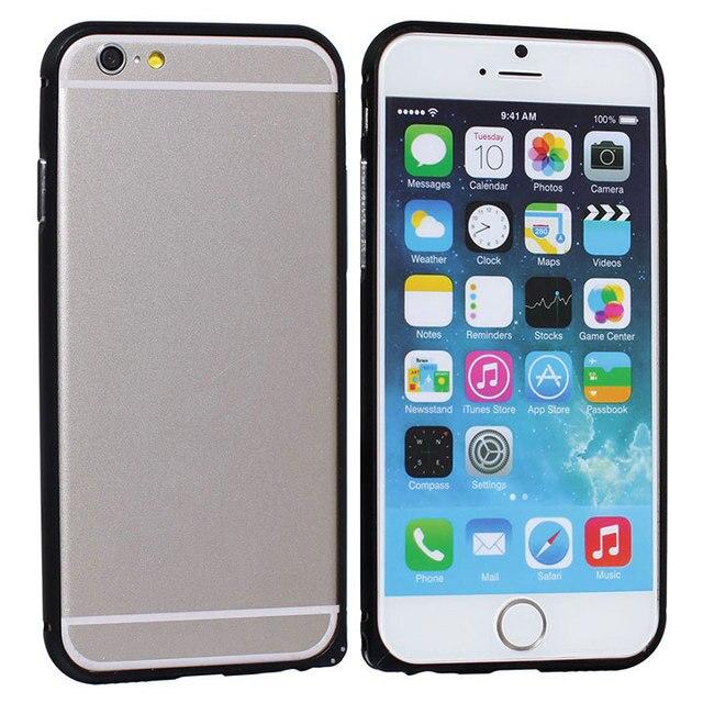 Стильный Матовый Алюминиевый сплав элегантный бампер Рамка PC Защитная крышка чехол для iPhone 6 4,7 кожа оболочка задняя крышка