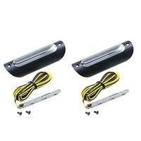 Universal 22Mm/25Mm Led Lenker Licht für Motorrad Retro Gelb Motor Griff Bar Lichter Roller 3W blinker Bar Lichter