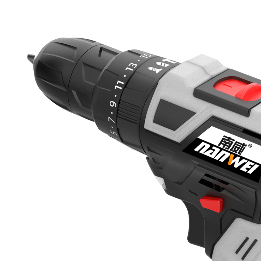 Tools : NANWEI 2020 Impact Cordless Drill Brushless Cordless Drill Impact Electric Drill Power Tools Hammer Drill