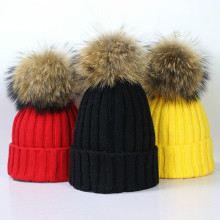 New explosive warm mink wool ball cap autumn and winter  100 sets of simple knitted headgear