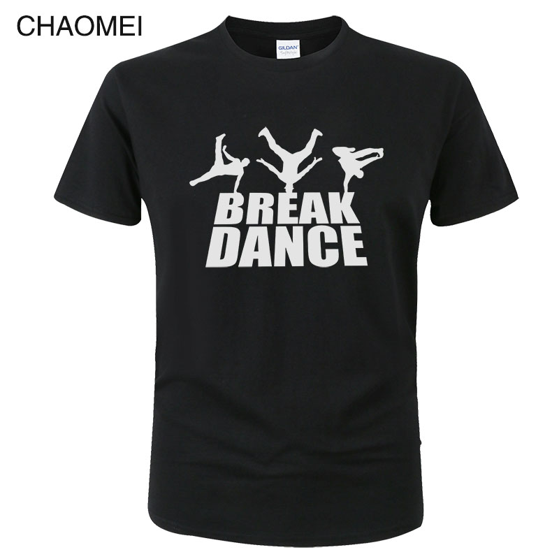 Streetwear Punk Harajuku Hip Hop Break Dance T shirt Cotton Print Breakdance T-shirt Unisex Fashion Cool Street dance Tees C16