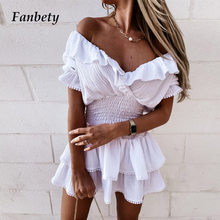 Women Summer New Short Sleeve Mini Dress Sexy V-Neck Ruffle Lace-Up Waist Party Dress Elegant Lady Pleated A-Line Dress Vestidos