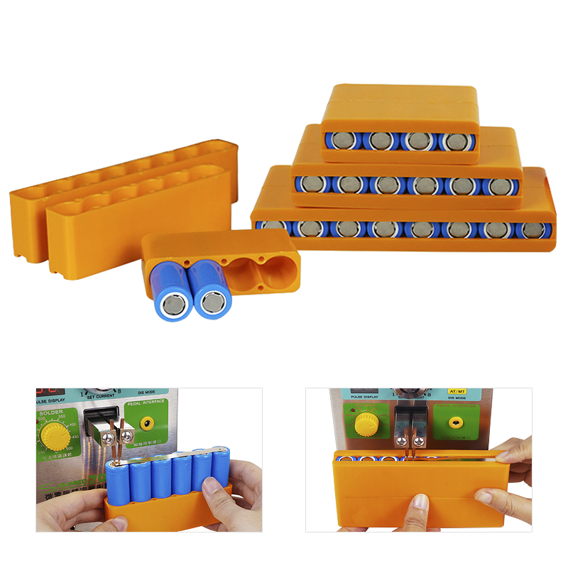 18650 Battery Fixed Fixture Single Row Double Sided Solder For Lithium Battery Pack Spot Welding Fixtures Batteries Fixed Holder