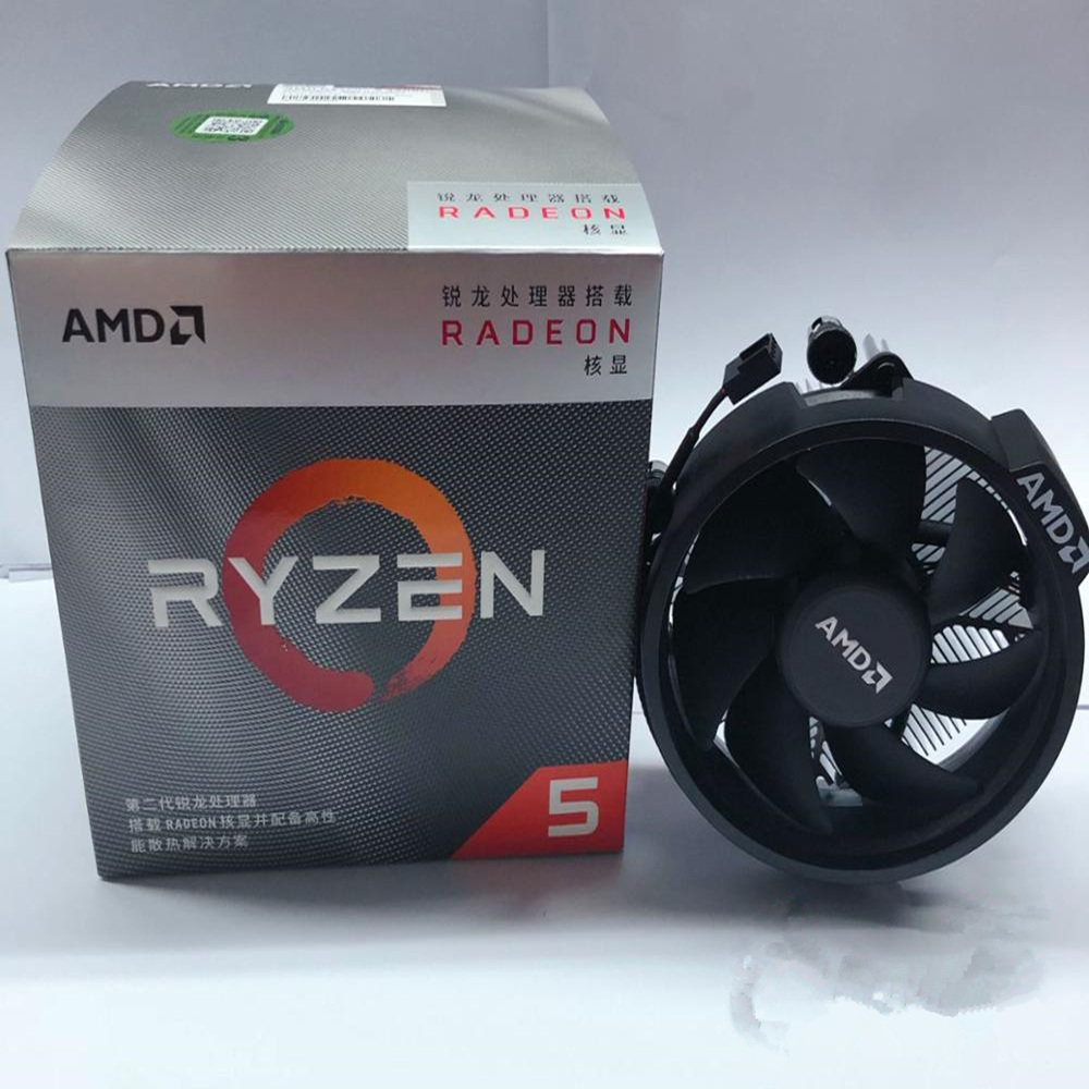 AMD CPU 3400g-3.7ghz R5 AM4 Quad-Core New with Original Fan Yd3400c5m4mfh-Socket Eight-Wire title=