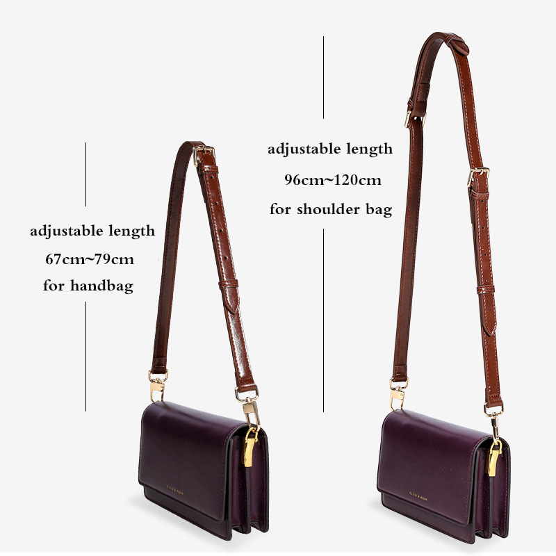 Fashion Leather Bag Strap Crossbody Shoulder Handbag Dual-purpose Strap 67cm~120cm Length 1.8cm Width Bag Accessories For Women