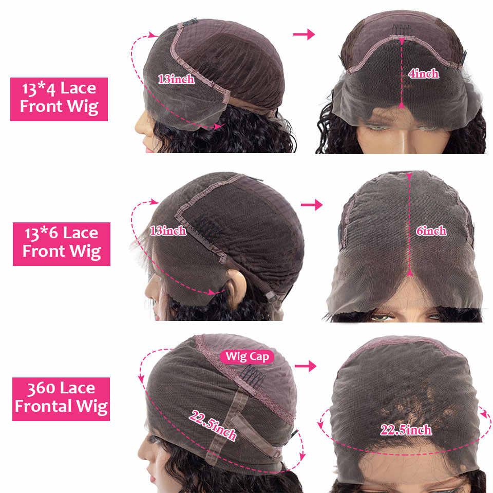 Pelucas de cabello humano con encaje rubio miel Frontal para mujeres negras, peluca ondulada corporal de color Ombre, peluca Frontal de encaje 360, cabello brasileño Remy 150