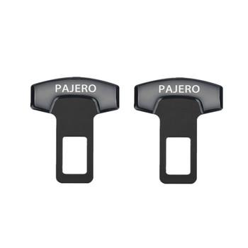 2 sztuk klamry do paska samochodu fotelik samochodowy bezpieczeństwa pasa Alarm Canceler korek dla Mitsubishi Pajero 2 3 4 akcesoria Car Styling tanie i dobre opinie