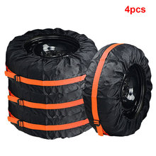 4Pcs Spare Tire Cover Case Polyester Winter and Summer Car Storage Bags Auto Tyre Accessories Vehicle Wheel Protector Hot