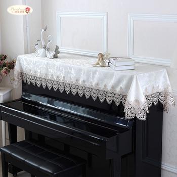 Dumna róża europejski ręcznik fortepianowy koronkowa narzuta na pianino prosty nowoczesny fortepian ogólny ręcznik do dekoracji wnętrz tanie i dobre opinie CN (pochodzenie) T80322-10 Other Nowoczesne Koronki 1 piece 90*200cm