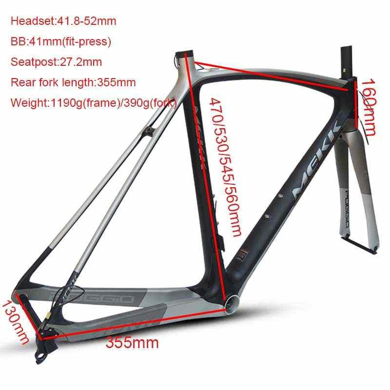 2019 yeni 700C karbon yol çerçeve tam karbon yol bisikleti çerçeveleri ile 700c bisiklet çatalı