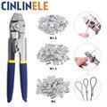 Обжимной трос, инструмент для рыбалки, обжимной наконечник для кабеля до 2,2 мм, алюминиевая трубка, двойной цилиндр, кольцевая муфта