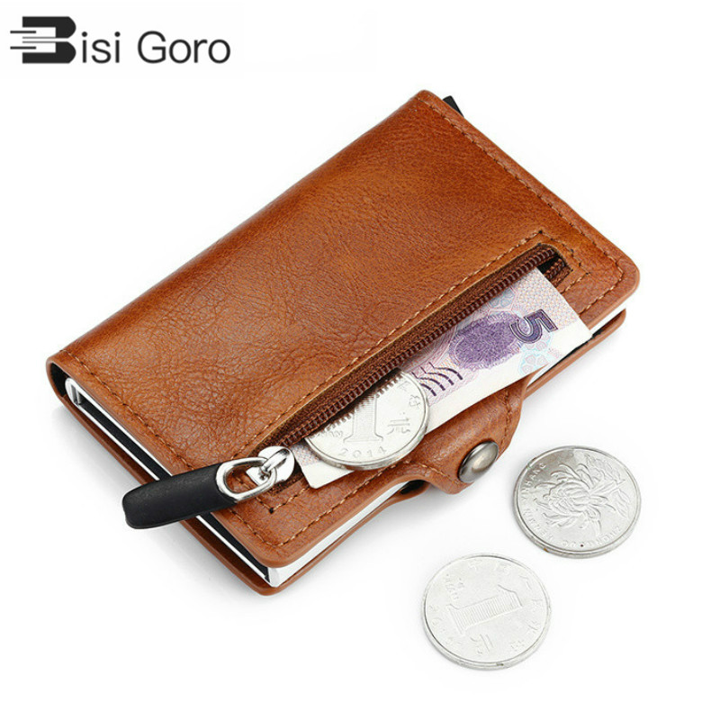 2020 Coin PU Leather Card Holder Safety Multifunctional Card Case Short Card Wallet For Men And Women RFID Blocking Money Bag