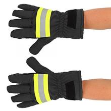 Fireproof Anti Fire Equipment Heat Resistant Fire Retardant Firefighters Protection Gloves luvas bombeiros guantes trabajo Black