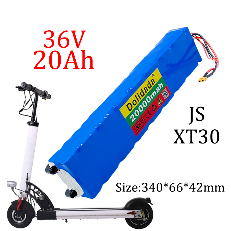 36v 20ah 18650 bateria de lítio recarregável 10s3p 500w de alta potência para bicicletas modificadas scooter veículo elétrico, com bms xt30