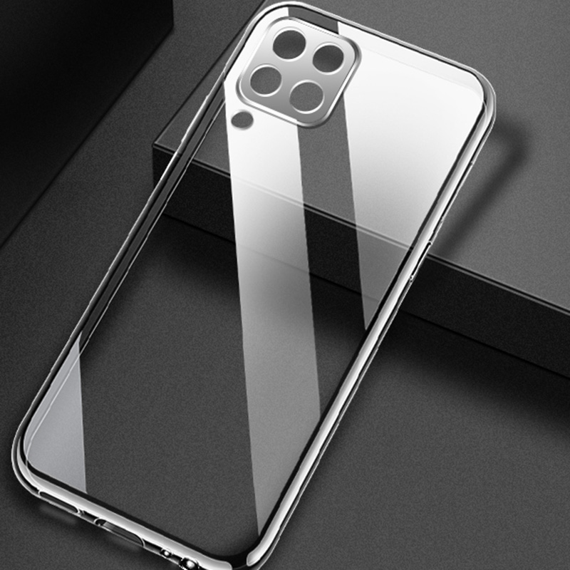 Samsung a12 Case Cover Silicone Transparent Protective Shockproof Hard Mobile Phone Case For Samsung Galaxy a12 Luxury Bumper