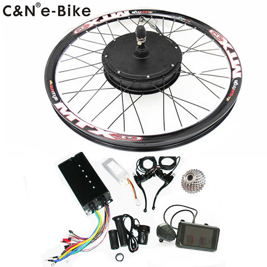 2019 High Speed 72v 3000w Electric Motorcycle Kit 3kw Electric bike conversion kit with Colorful Display