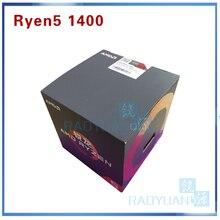 חדש AMD Ryzen 5 1400 R5 1400 R5 1400 3.2 GHz Quad Core מעבד מעבד YD1400BBM4KAE שקע AM4 עם קירור מאוורר