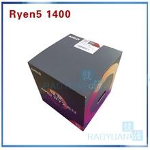 AMD procesador de CPU AMD Ryzen 5 1400 R5 1400 R5 1400 3,2 GHz Quad Core, YD1400BBM4KAE Socket AM4 con ventilador de refrigeración, novedad