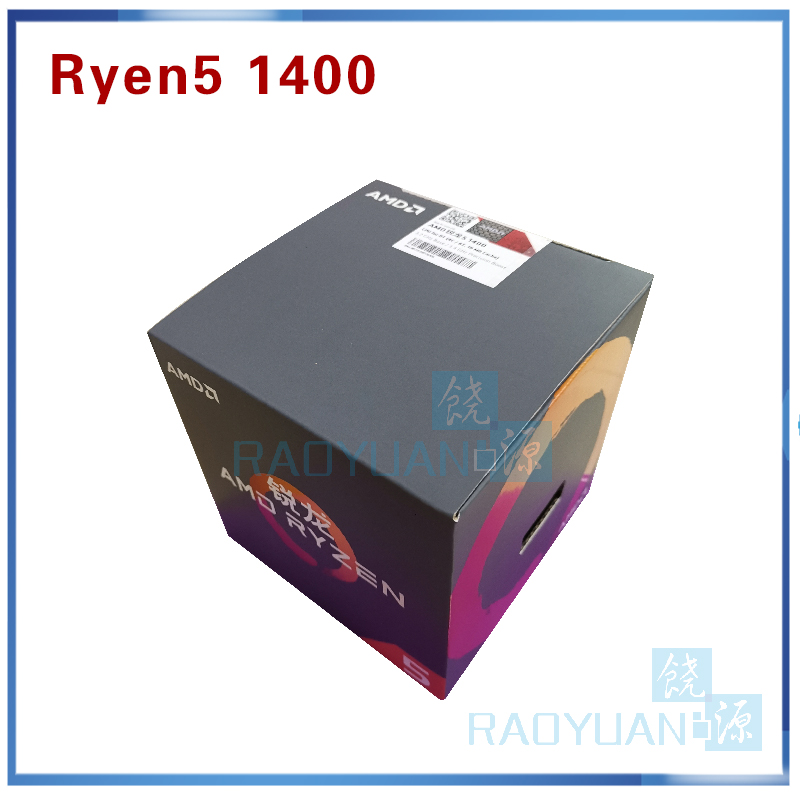 New AMD Ryzen 5 1400 R5 1400 R5 1400 3.2 GHz Quad Core CPU Processor YD1400BBM4KAE Socket AM4 with cooling fan-in CPUs from Computer & Office