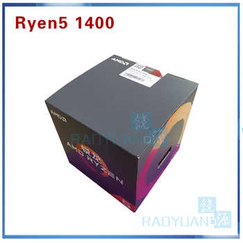 New AMD Ryzen 5 1400 R5 1400 R5-1400 3.2 GHz Quad-Core CPU Processor YD1400BBM4KAE Socket AM4 with cooling fan - SALE ITEM - Category 🛒 Computer & Office