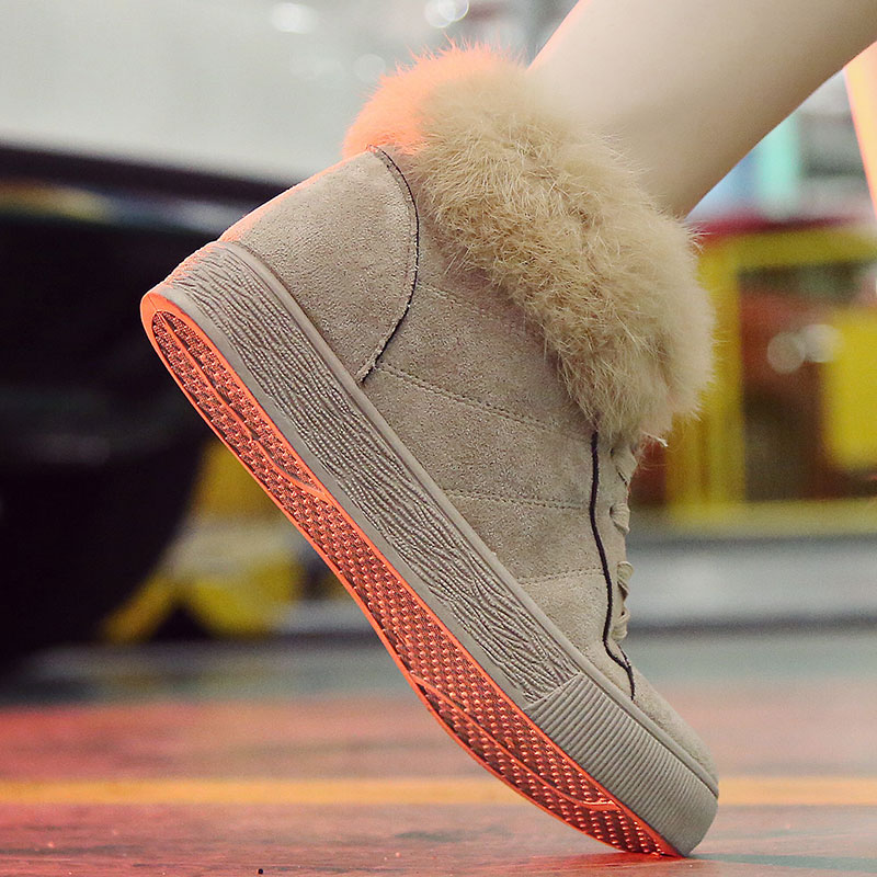 TKN Women Snow Boots Winter Warm Ankle Boots For Women Thick Bottom Platform Plush PU Leather Casual Shoes zapatos de mujer G25
