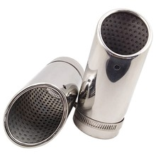 2Pcs for Mercedes Benz C180 Car Exhaust Muffler Tip Stainless Steel Pipe Chrome Modified Car Rear Tail Throat Liner Accessories(China)