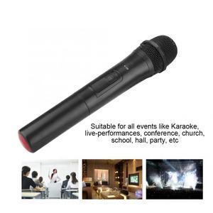 Image 2 - 범용 UHF 무선 전문 핸드 헬드 마이크 오디오 앰프 노래방 마이크 노래 성능 오디오 앰프