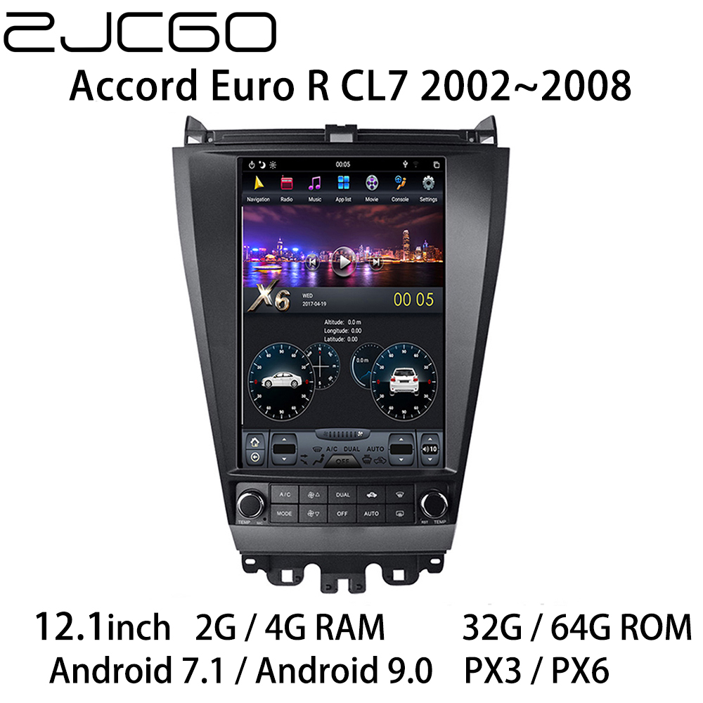 Car Multimedia Player Stereo GPS DVD <font><b>Radio</b></font> Navigation NAVI <font><b>Android</b></font> Screen Monitor for <font><b>Honda</b></font> <font><b>Accord</b></font> Euro R CL7 2002~2008 image