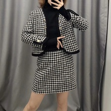 Two Piece Set Women Tweed Skirt And Jacket Women Two Piece Outfits Ladies Two Piece Skirt Set Clothes two piece outfits