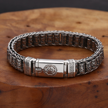 S925 Sterling Silver Vintage Six-character Tumbler Bracelet Men Women Thai silver Retro Exquisite Bucket Beads Bracelet Jewelry