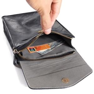 """Image 4 - FULAIKATE 7.2 """"universel sac de téléphone pour Huawei Mate 20X rétro pochette dépaule pour Xiao mi mi Max 3 grande taille sac de taille pour iPhone"""