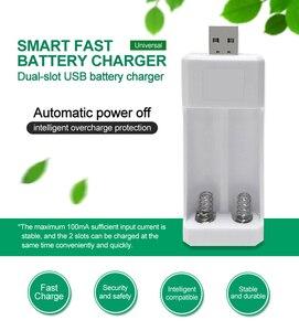 Image 2 - PHOMAX คู่ USB AA แบตเตอรี่ AAA Ni MH/Ni Cd แบตเตอรี่ Charger แบบพกพาน้ำหนักเบา Universal Battery Charger