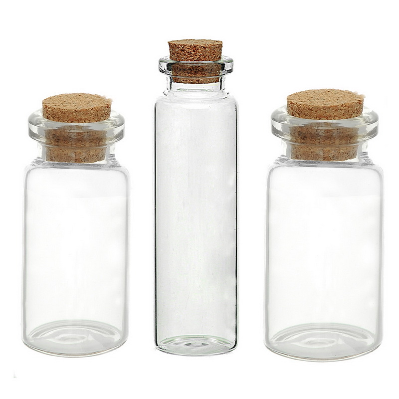 5pcs Transparent Cylindrical Glass Bottle With Cork Gift Jewelry Storage Boxes Organizer Glass Bottles Small Vase Tiny Bottles Special Promo 9bc48 Cicig