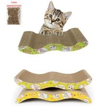 44x22 см большая Когтеточка для кошек из гофрированного картона шлифовальная тарелка лапа+ кошачья мята бумажный коврик игрушка для кошек скалолазание рама Скребок коврик