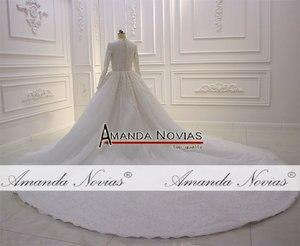 Image 2 - Nowy projektant suknia ślubna muzułmańska suknia ślubna 2020
