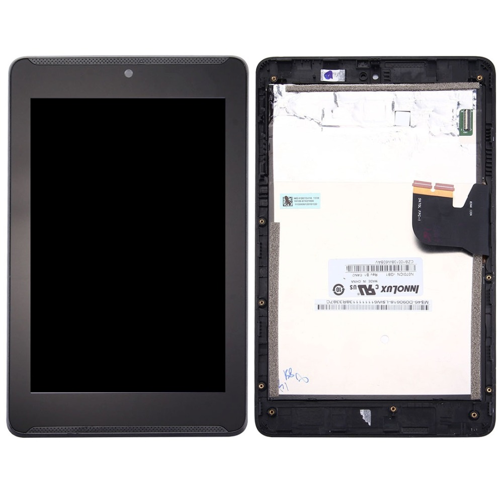 High quality For <font><b>Asus</b></font> Fonepad 7 / ME372CG / ME372 <font><b>K00E</b></font> LCD <font><b>Screen</b></font> and Digitizer Full Assembly with Frame image