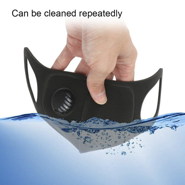 FORAUTO Sport Face Mask With Activated Carbon Pm 2.5 Anti-pollution Running Cycling Mask Motocycle Sponge Masks Reusable 5