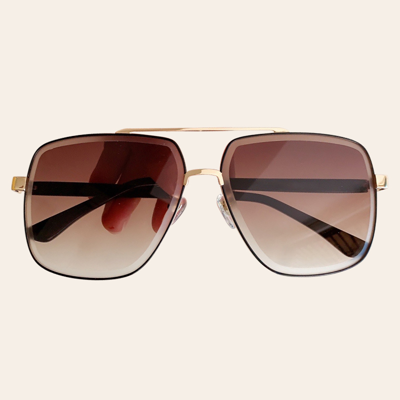 Famous Fashion Luxurious Brand Metal Square Frame Women Sun Glasses okulary damskie Gradient Sunglasses