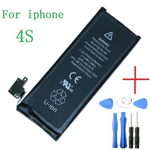 1430 mAh Li-Ion New Battery Replacement For Apple iPhone 4S Flex Cable+tools
