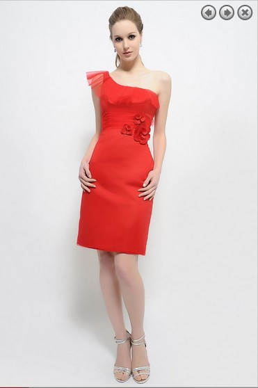 free shipping dinner dress 2016 New fashion Party Prom Gown vestidos formales brides maid short red purple Bridesmaid Dresses