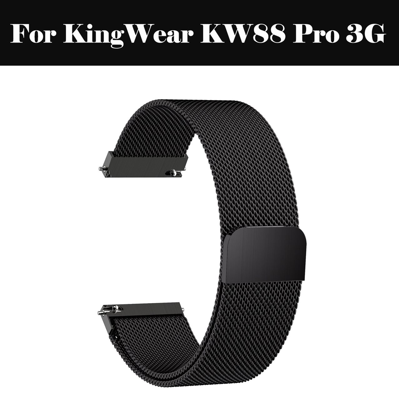 Milanese Loop Bracelet Stainless Steel <font><b>band</b></font> 22mm 20mm 18mm Bracelet strap For KingWear <font><b>KW88</b></font> Pro 3G image