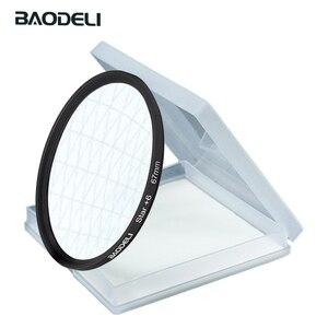 Image 2 - BAODELI Star Filtro 49 52 55 58 62 67 72 77 82 Millimetri Per La Macchina Fotografica Lens Canon Eos M50 T5 t6 77 2000 D Nikon 3500 7500 Sony Accessori