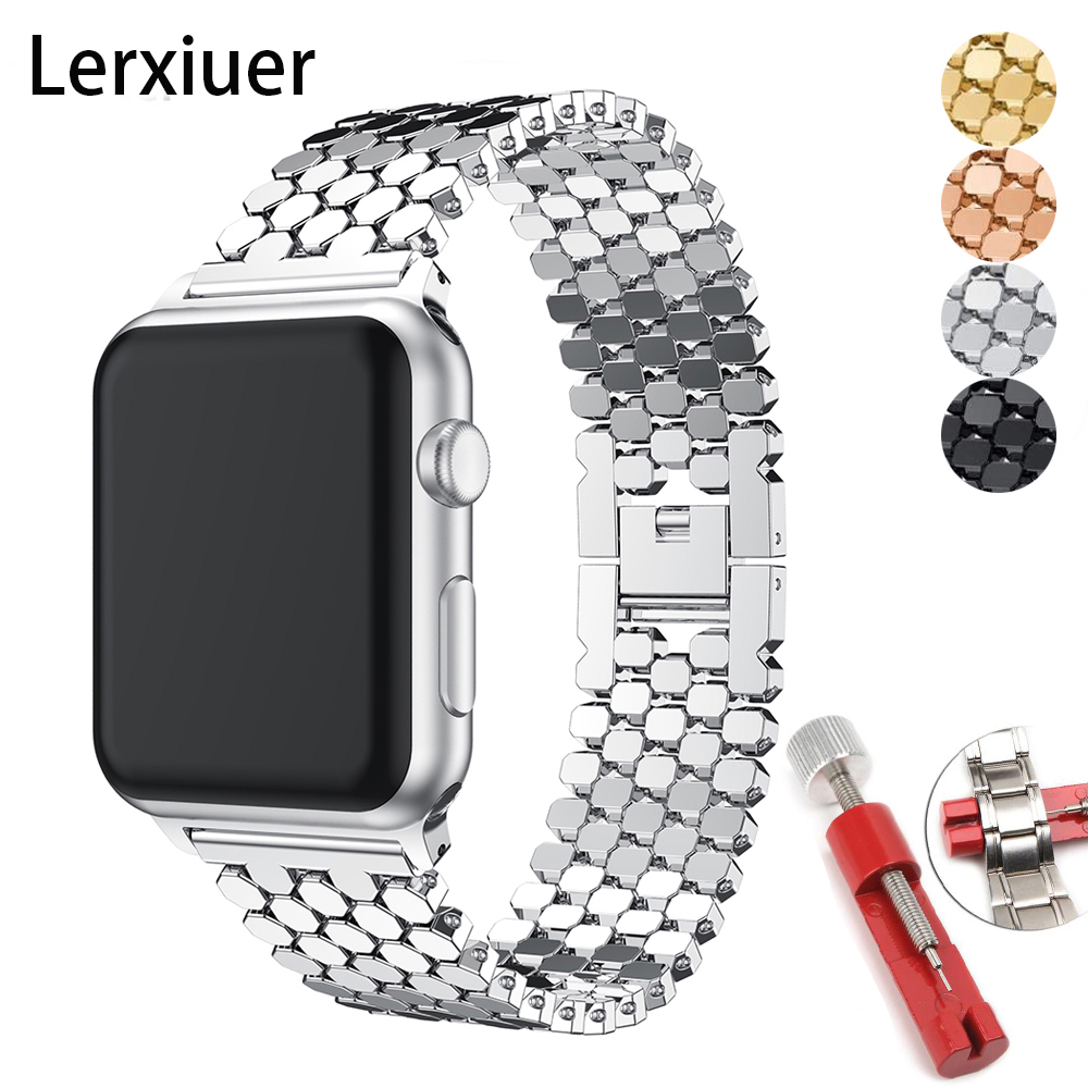 Strap For Apple Watch Band 4 5 Iwatch 44mm 40mm Band 42mm 38mm Apple Watch 5 4 3 2 1 Accessories Stainless Steel Correa Bracelet