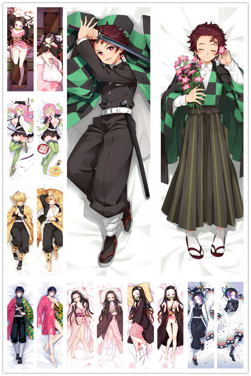 Dakimakura Body Demon Slayer : Kimetsu No Yaiba150x50cm 100x35cm Anime Manga  Pillow Case Cover